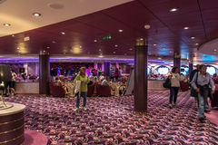 Cruise ship bar interior Stock Photo