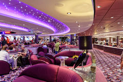 Cruise ship bar interior Royalty Free Stock Image