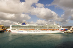 Cruise ship in Barbados Royalty Free Stock Photo