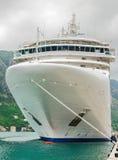 Cruise ship in the bay Royalty Free Stock Photos