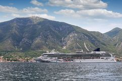 Cruise ship Bay of Kotor Montenegro. Summer season stock images