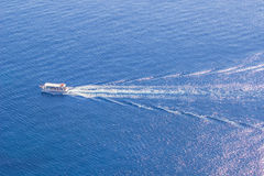 Cruise ship on the beautiful blue sea Royalty Free Stock Photography