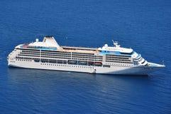 Cruise ship. Beautiful cruise ship sailing at open sea stock images