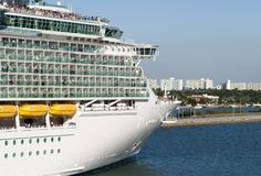 Cruise Ship Begins New Journey Stock Image