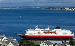 Cruise ship in Alesund royalty free stock image