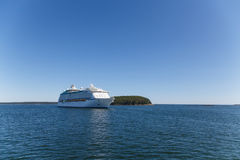 Cruise Ship on Blue Horizon Stock Image