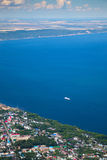 Cruise ship on blue sea Stock Photography