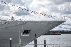Cruise Ship boat at Hamburg Harbor germany Stock Photos