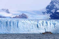 Cruise ship boat near glacier in Patagonia, Argentina Royalty Free Stock Photo