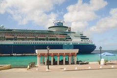 Cruise ship in Bonaire Stock Images