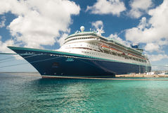 Cruise ship in Bonaire Stock Photos