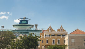 Cruise ship in Bonaire Royalty Free Stock Photography