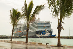 Cruise ship in Bonaire Royalty Free Stock Photo