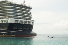 Cruise ship in Bonaire Stock Photography