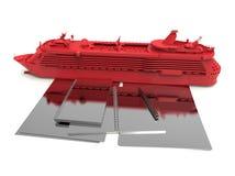 Cruise ship booking concept Stock Image