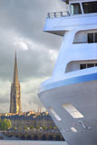 Cruise ship in Bordeaux Stock Photo