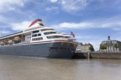 Cruise ship in Bordeaux Stock Photography