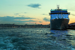 Cruise ship Bosporus, Turkey. Royalty Free Stock Photography