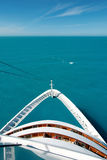 Cruise ship bow on the high seas Royalty Free Stock Photo