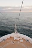 Cruise ship bow and sea Royalty Free Stock Photo