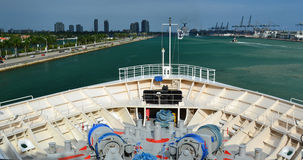 Cruise ship bow. View of a cruise ship bow Royalty Free Stock Images