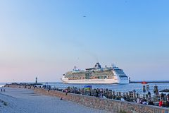 Cruise ship Brilliance of the Seas at Rostock Warnemuende.  stock photos