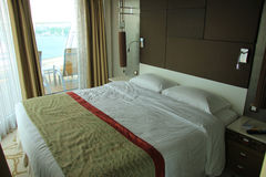 Cruise ship cabin interior Royalty Free Stock Photo