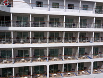 Cruise ship cabins. Each similar to the others, emphasizes the mass market approach of the cruising industry Royalty Free Stock Photography