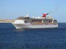 Cruise Ship In Cabo San Lucas. Cruise ship off the coast of Cabo San Lucas, Mexico Royalty Free Stock Photos