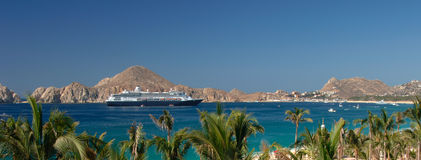 Cruise Ship in Cabo San Lucas Stock Image