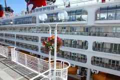 Cruise ship, Canada Place Vancouver BC Canada. Royalty Free Stock Photography