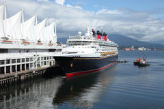 Cruise ship, Canada Place Vancouver BC Canada. Royalty Free Stock Images