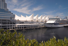 Cruise Ship at Canada Place - Vancouver - Canada Royalty Free Stock Images