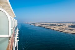 Cruise ship on canal Stock Image