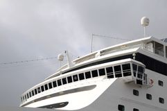 Cruise ship - captain navigating bridge Stock Images