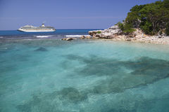 Cruise ship in the Caribbean Royalty Free Stock Photography