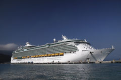 Cruise ship Caribbean Stock Images