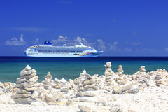 Cruise Ship in the Caribbean Stock Images