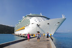 Cruise Ship Caribbean Haiti Royalty Free Stock Photography