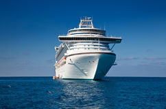 Cruise Ship in Caribbean Sea Royalty Free Stock Photography