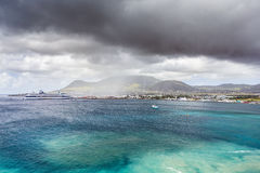 Cruise ship in Caribbean sea Royalty Free Stock Photos