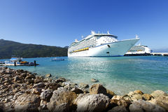 Cruise ship Caribbean vacation. Cruise ship Caribbean island vacation / holiday