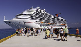 Cruise ship - Carnival Dream in Cozumel Stock Image