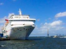 Cruise Ship Carnival Fantasy docked in Charleston, SC Stock Images