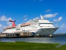Cruise Ship Carnival Fantasy docked in Charleston, SC Royalty Free Stock Photo