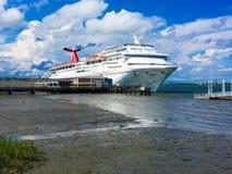 Cruise Ship Carnival Fantasy docked in the Port of Charleston, SC Royalty Free Stock Photos