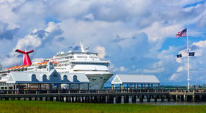 Cruise Ship Carnival Fantasy docked in the Port of Charleston, SC Royalty Free Stock Photography