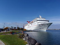 Cruise Ship - Carnival Paradise dock at Ensenada Royalty Free Stock Photo