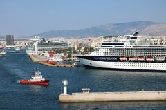 Cruise ship Celebrity Constellation. In the port of Pireus. Greece. Celebrity Constellation is a Millennium-class cruise ship of Celebrity Cruises and it has royalty free stock photos
