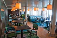 Cruise ship Celebrity Reflection interior. Bistro onboard cruise ship Celebrity Reflection Stock Photos
